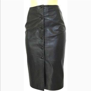 Dresses & Skirts - Oscar de las renta leather skirt NWT